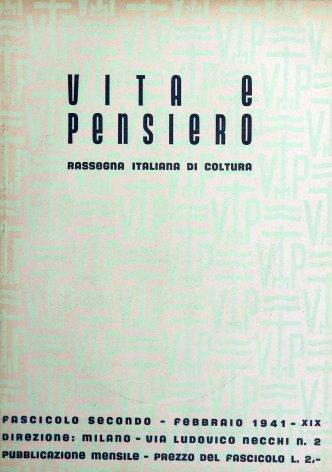 VITA E PENSIERO - 1941 - 2