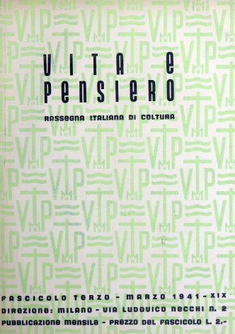 VITA E PENSIERO - 1941 - 3