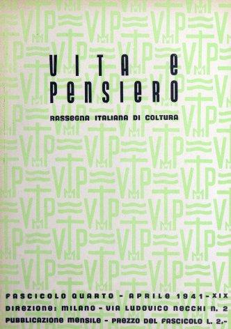 VITA E PENSIERO - 1941 - 4