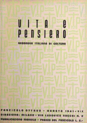 VITA E PENSIERO - 1941 - 8