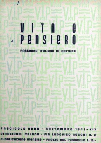 VITA E PENSIERO - 1941 - 9