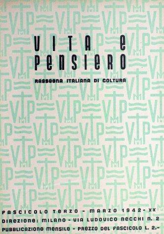VITA E PENSIERO - 1942 - 3