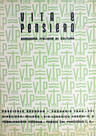 VITA E PENSIERO - 1943 - 2
