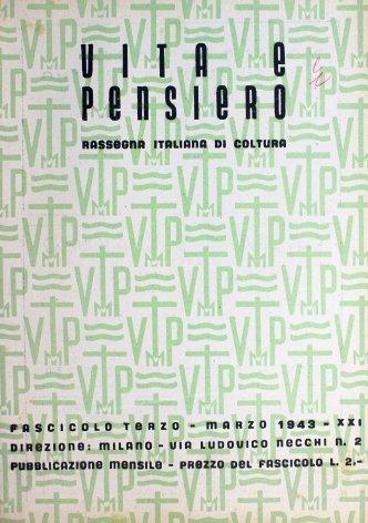 VITA E PENSIERO - 1943 - 3