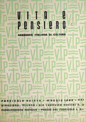 VITA E PENSIERO - 1943 - 5