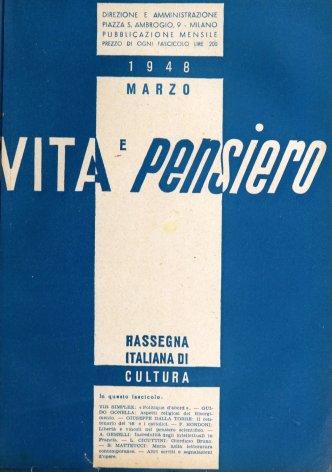 VITA E PENSIERO - 1948 - 3