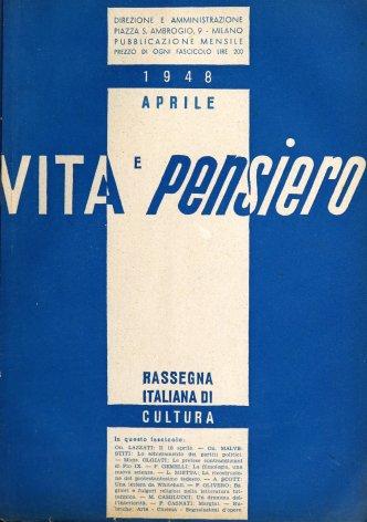 VITA E PENSIERO - 1948 - 4