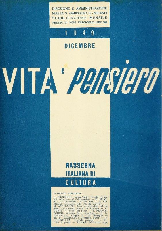 VITA E PENSIERO - 1949 - 12