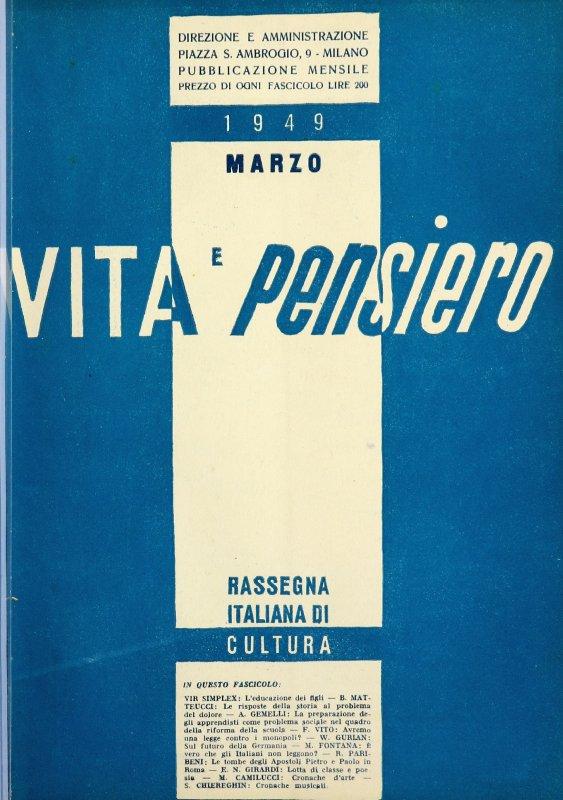 VITA E PENSIERO - 1949 - 3