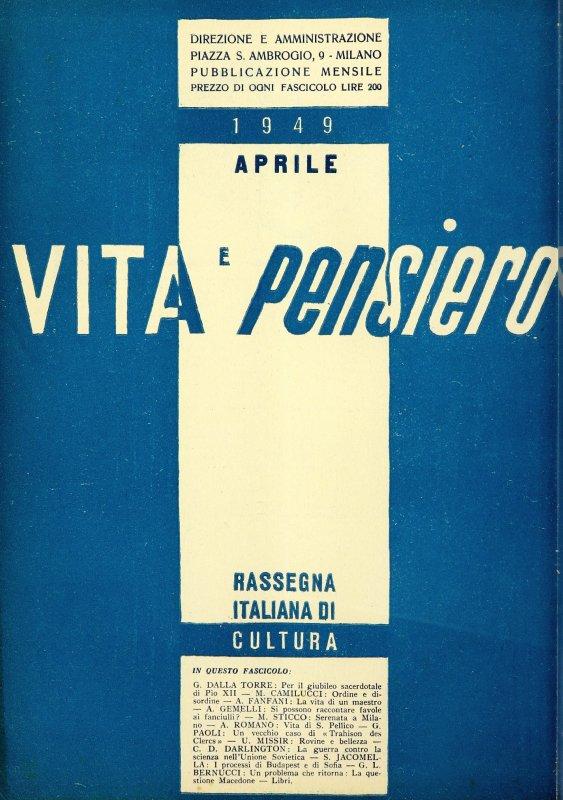 VITA E PENSIERO - 1949 - 4