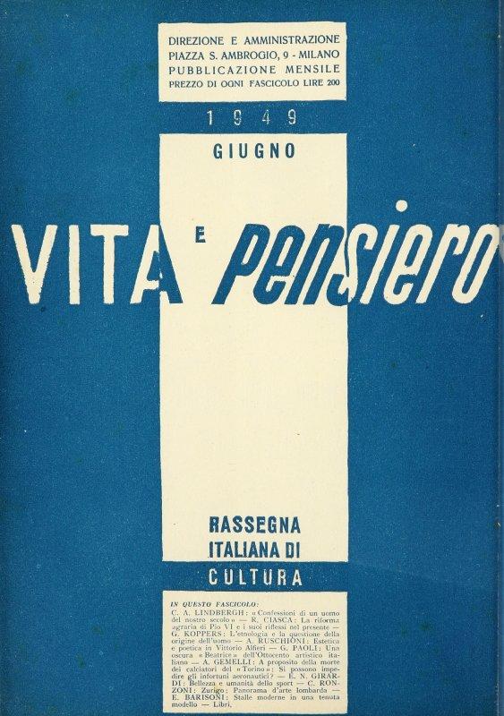 VITA E PENSIERO - 1949 - 6