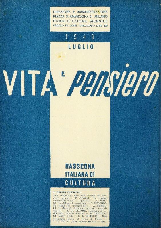 VITA E PENSIERO - 1949 - 7
