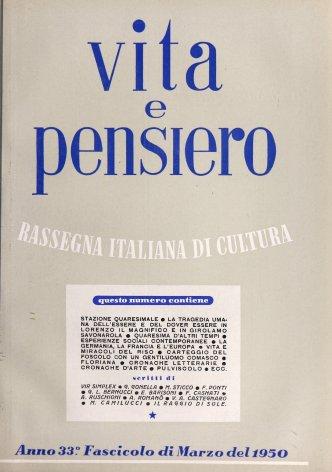VITA E PENSIERO - 1950 - 3