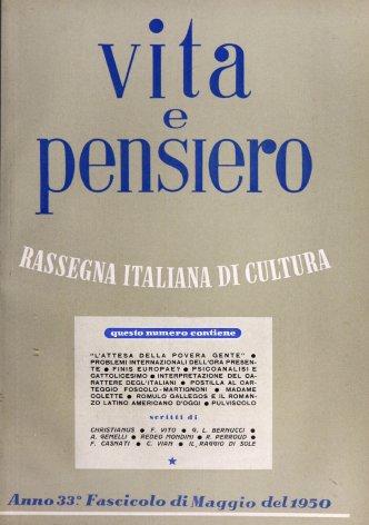 VITA E PENSIERO - 1950 - 5