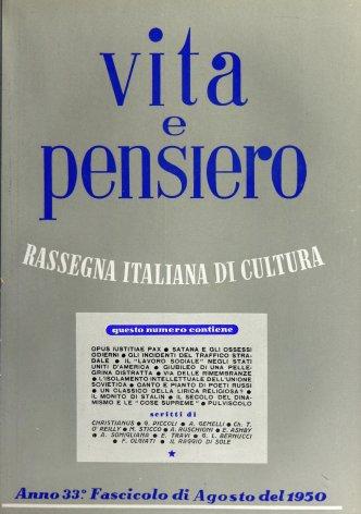 VITA E PENSIERO - 1950 - 8
