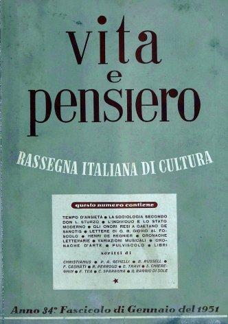 VITA E PENSIERO - 1951 - 1