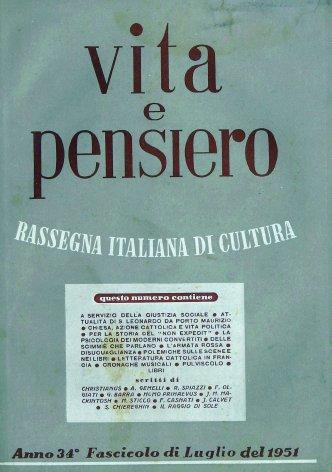 VITA E PENSIERO - 1951 - 7