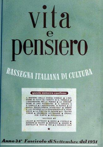 VITA E PENSIERO - 1951 - 9