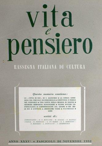 VITA E PENSIERO - 1952 - 11