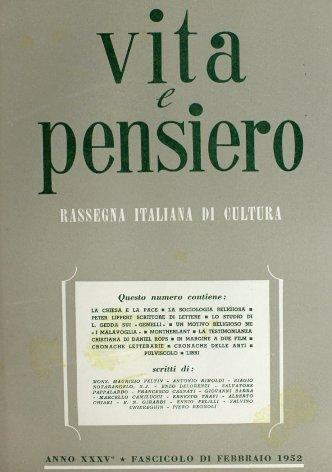 VITA E PENSIERO - 1952 - 2