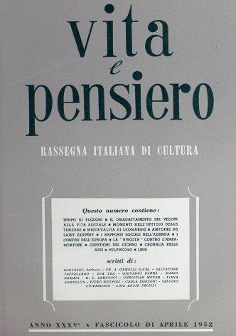 VITA E PENSIERO - 1952 - 4