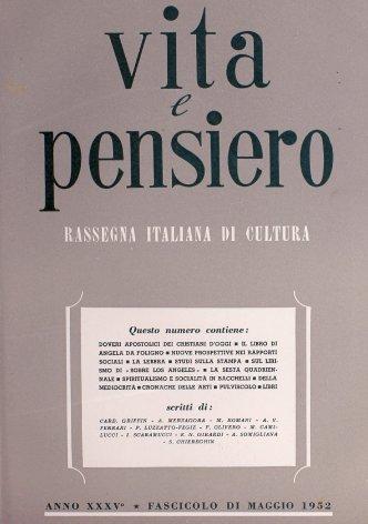 VITA E PENSIERO - 1952 - 5