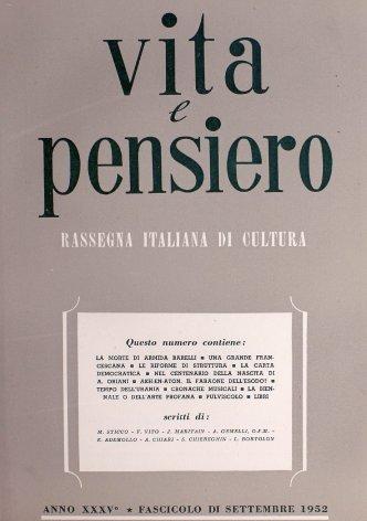 VITA E PENSIERO - 1952 - 9