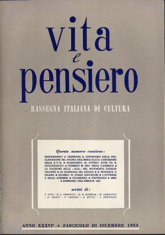 VITA E PENSIERO - 1953 - 12