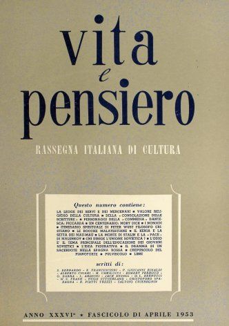 VITA E PENSIERO - 1953 - 4