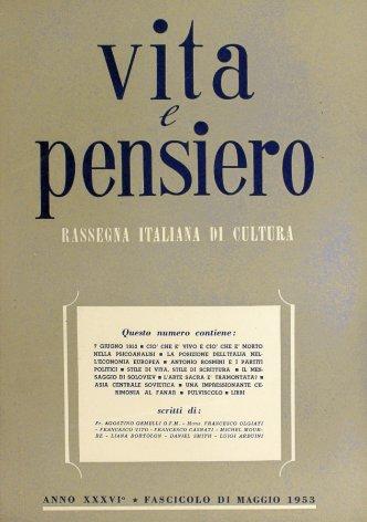 VITA E PENSIERO - 1953 - 5