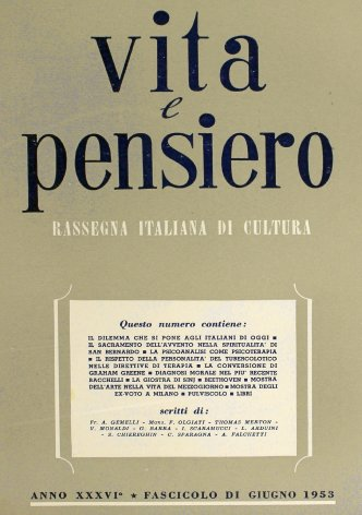 VITA E PENSIERO - 1953 - 6