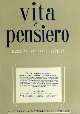 VITA E PENSIERO - 1953 - 8