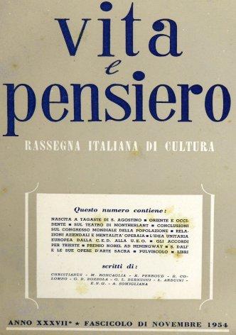 VITA E PENSIERO - 1954 - 11
