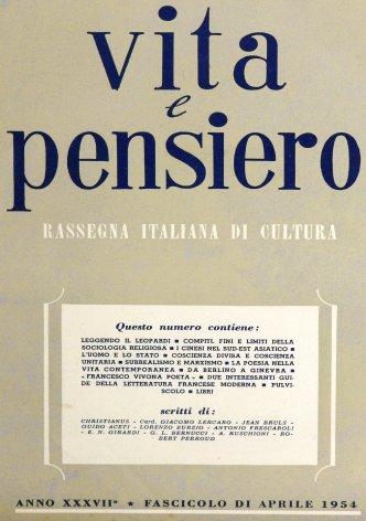 VITA E PENSIERO - 1954 - 4