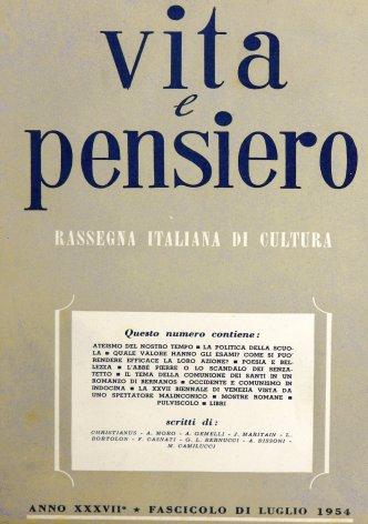 VITA E PENSIERO - 1954 - 7
