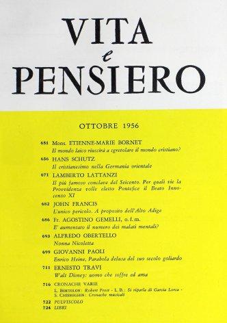 VITA E PENSIERO - 1956 - 10