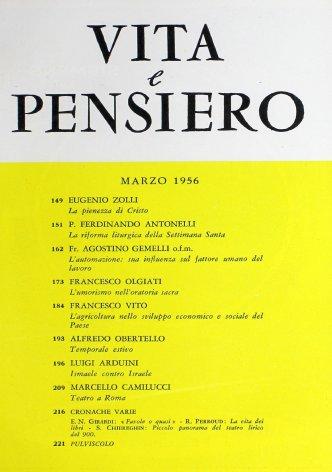 VITA E PENSIERO - 1956 - 3