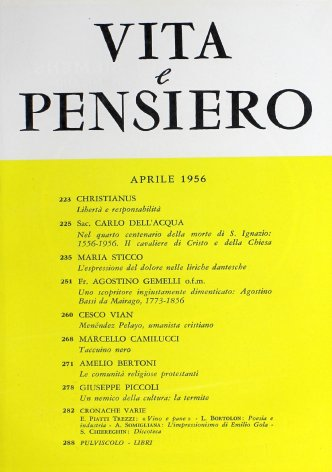 VITA E PENSIERO - 1956 - 4