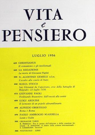 VITA E PENSIERO - 1956 - 7