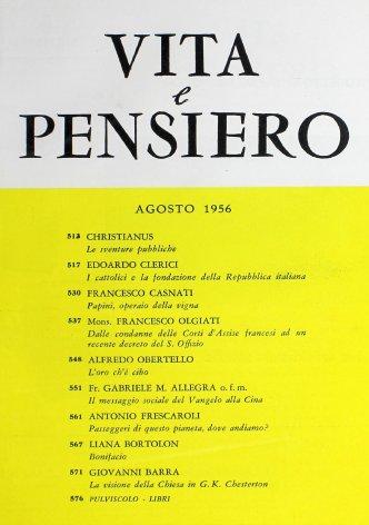 VITA E PENSIERO - 1956 - 8