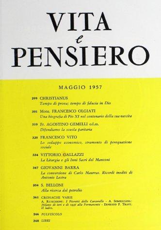 VITA E PENSIERO - 1957 - 5