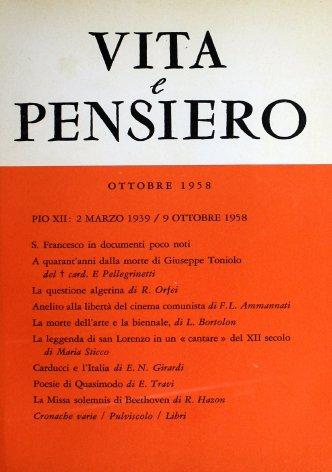 VITA E PENSIERO - 1958 - 10