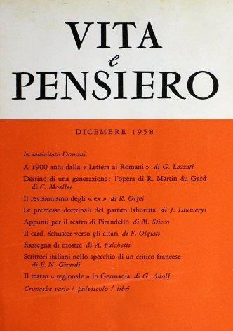 VITA E PENSIERO - 1958 - 12