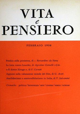 VITA E PENSIERO - 1958 - 2