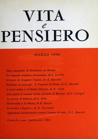 VITA E PENSIERO - 1958 - 3