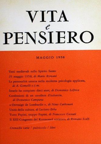 VITA E PENSIERO - 1958 - 5