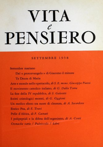 VITA E PENSIERO - 1958 - 9