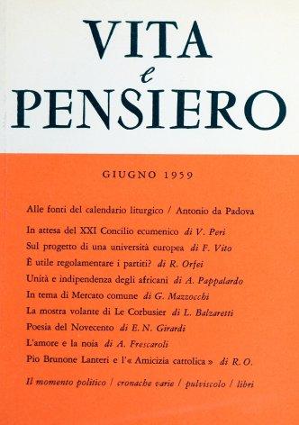 VITA E PENSIERO - 1959 - 6