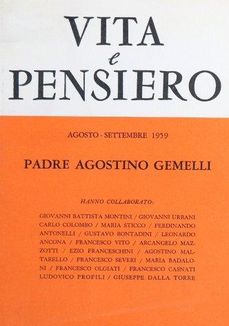 VITA E PENSIERO - 1959 - 8-9