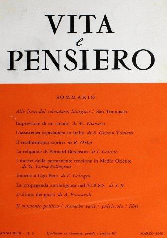 VITA E PENSIERO - 1960 - 3